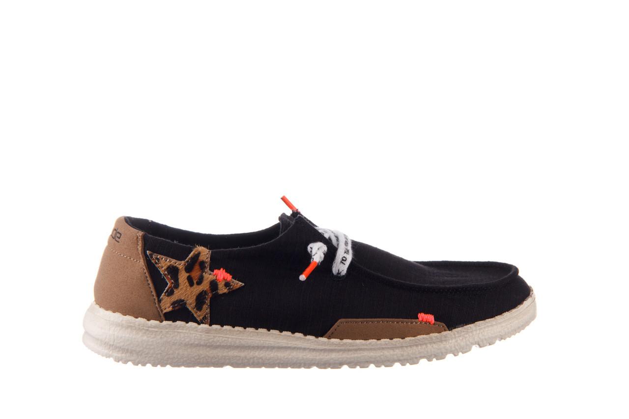 Półbuty heydude wendy star black, czarny, materiał - sznurowane - półbuty - buty damskie - kobieta 8