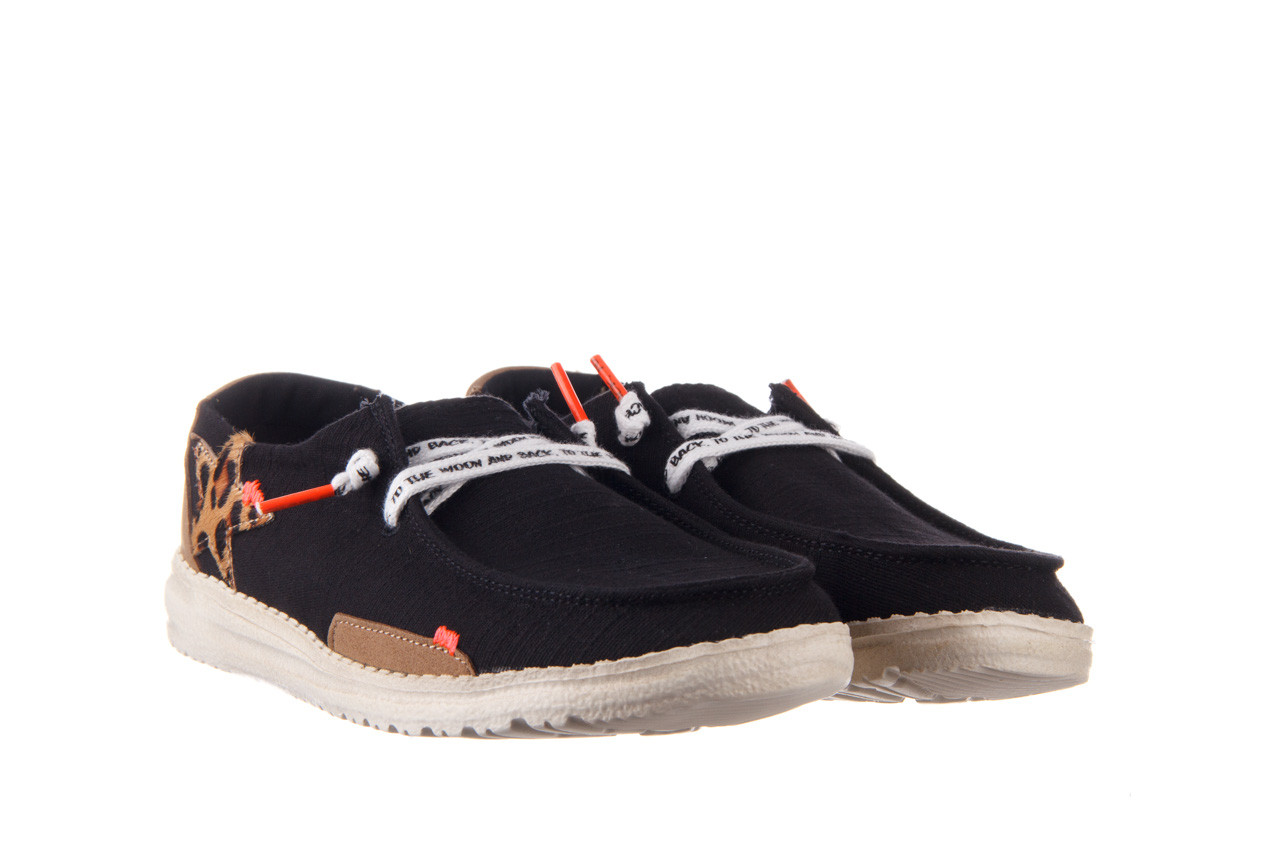 Półbuty heydude wendy star black, czarny, materiał - sznurowane - półbuty - buty damskie - kobieta 9