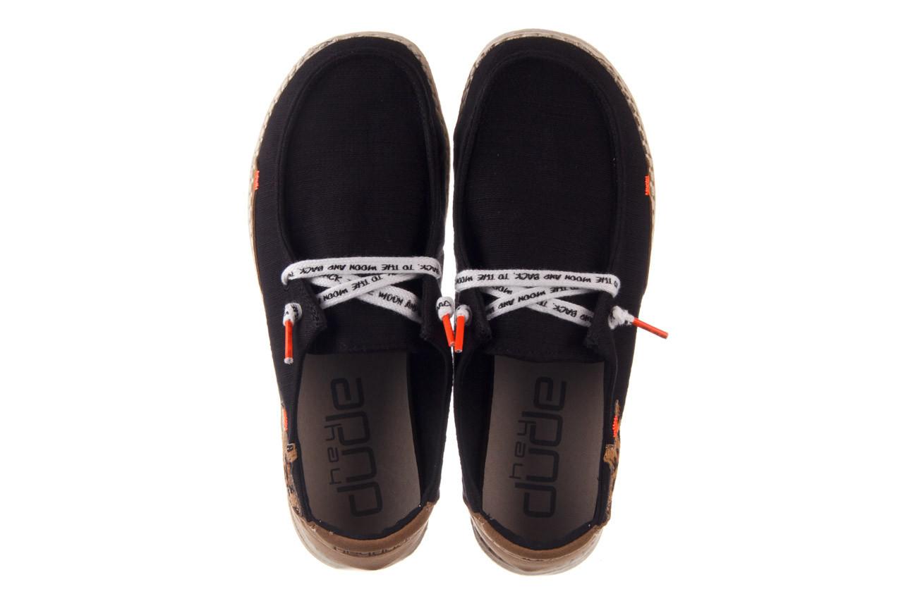 Półbuty heydude wendy star black, czarny, materiał - sznurowane - półbuty - buty damskie - kobieta 12