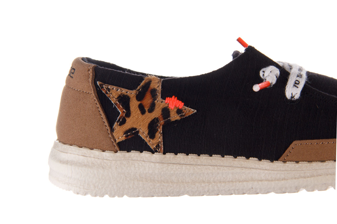 Półbuty heydude wendy star black, czarny, materiał - sznurowane - półbuty - buty damskie - kobieta 15