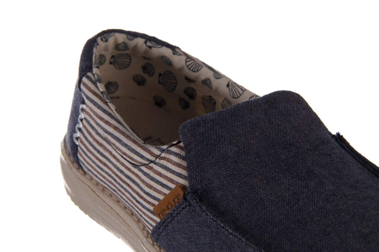 Półbuty heydude misty blue barbados, granat, materiał - trendy - kobieta 15