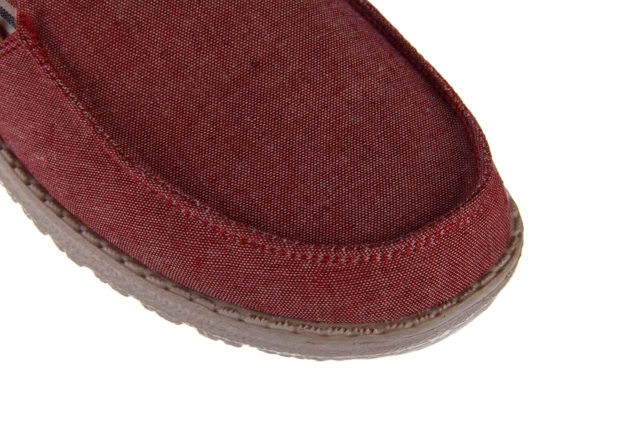 Półbuty heydude misty red barbados, czerwony, materiał - nowości 13