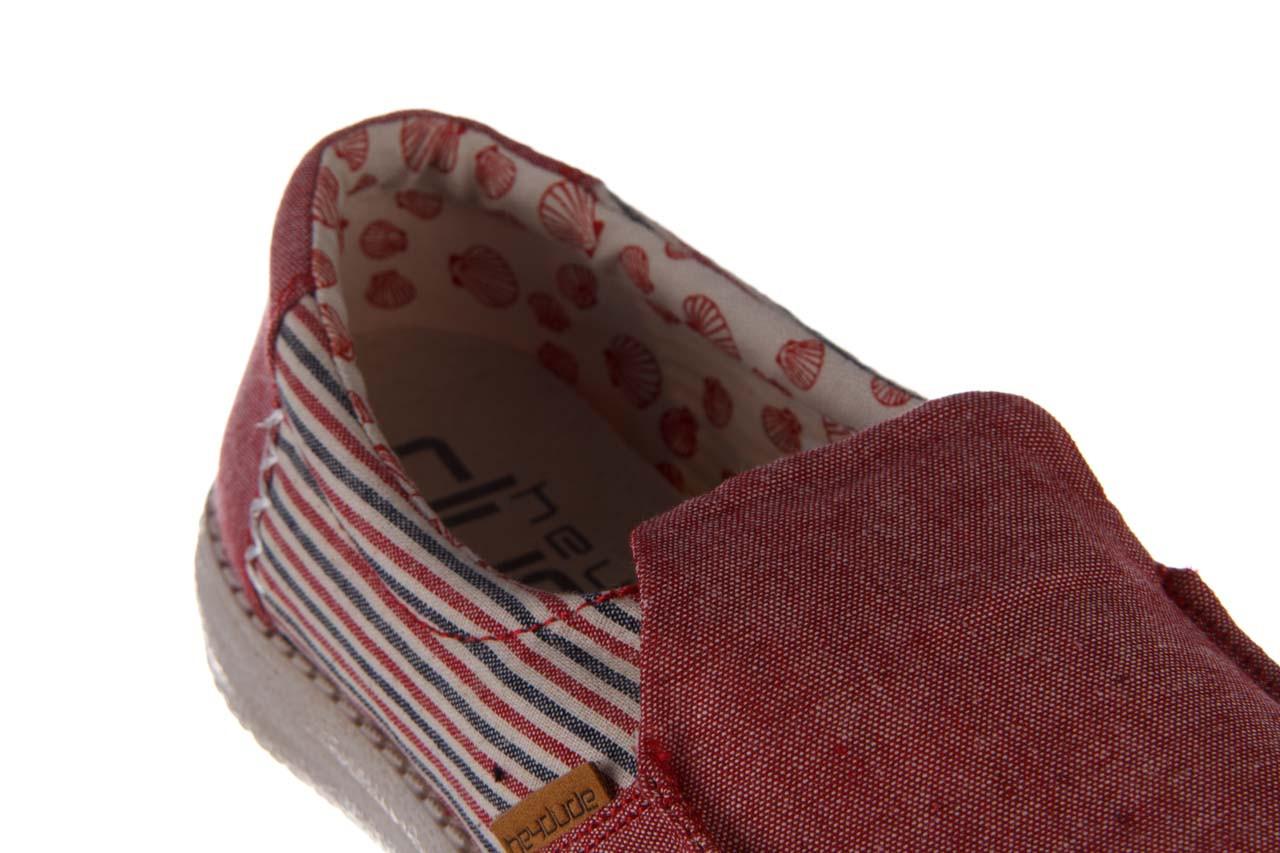 Półbuty heydude misty red barbados, czerwony, materiał - nowości 14