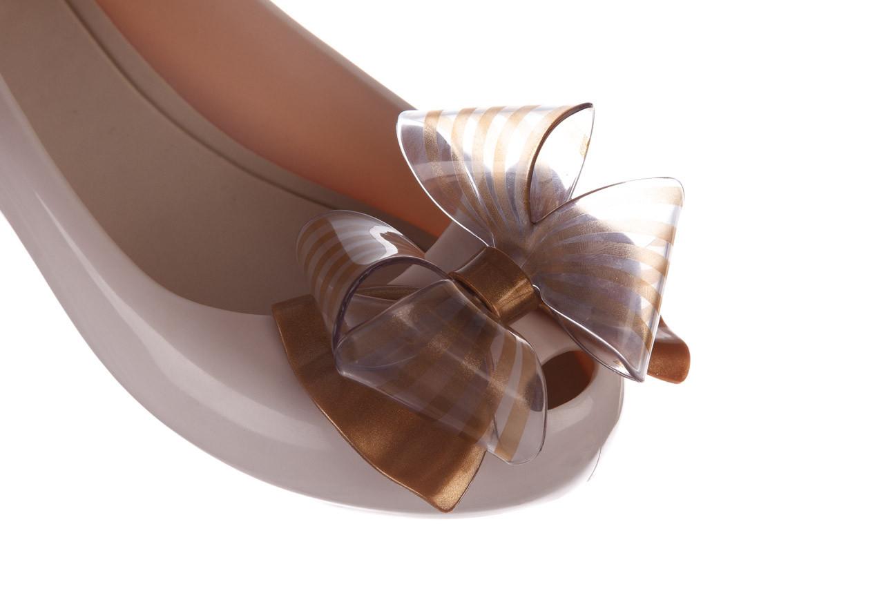 Baleriny melissa ultragirl sweet xviii ad beige gold 010327, beż, guma - baleriny - melissa - nasze marki 12