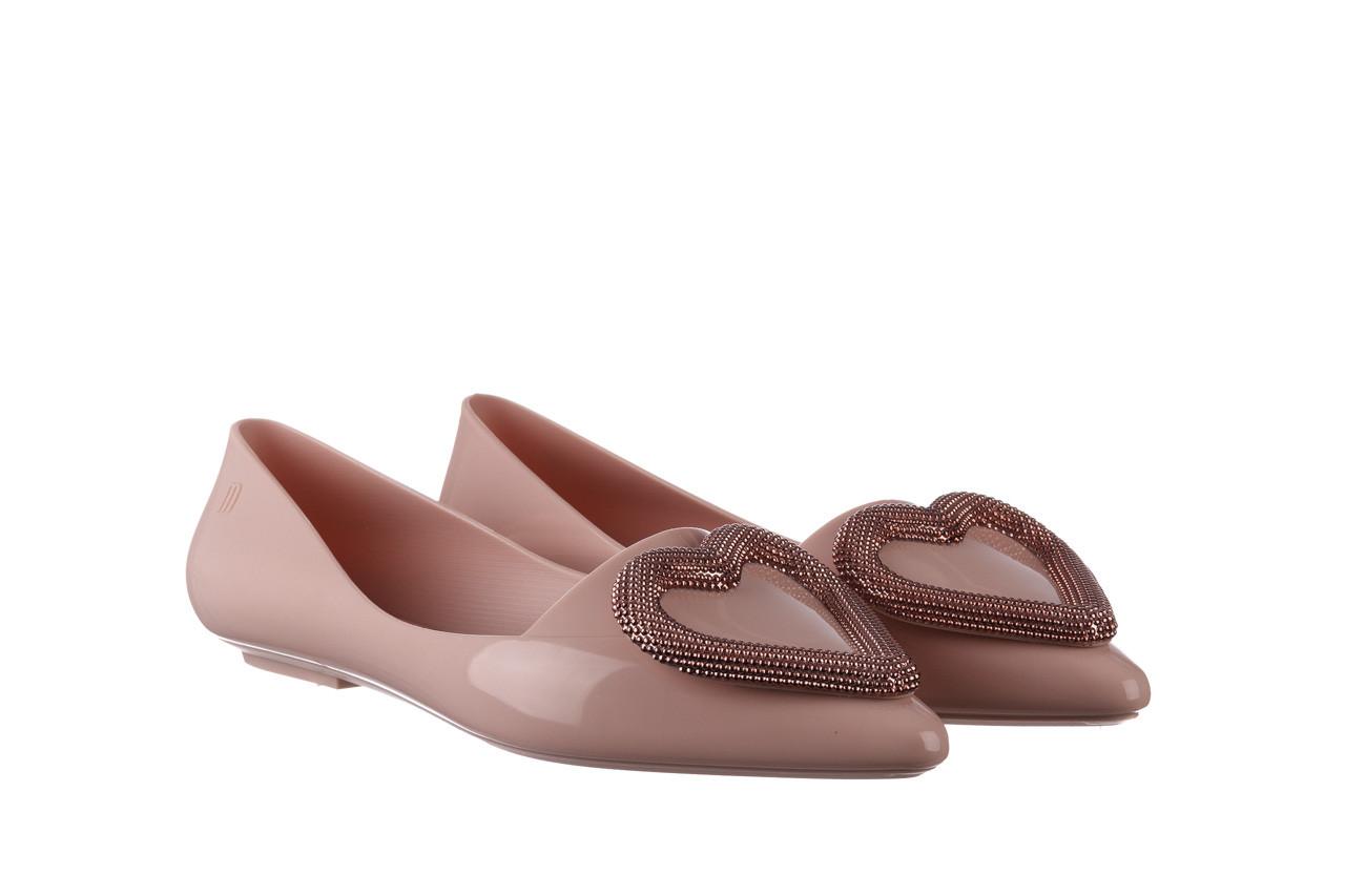 Baleriny melissa pointy heart ad soft pink 010329, róż, guma  - kobieta 9