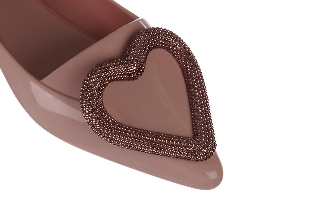 Baleriny melissa pointy heart ad soft pink 010329, róż, guma  - kobieta 13