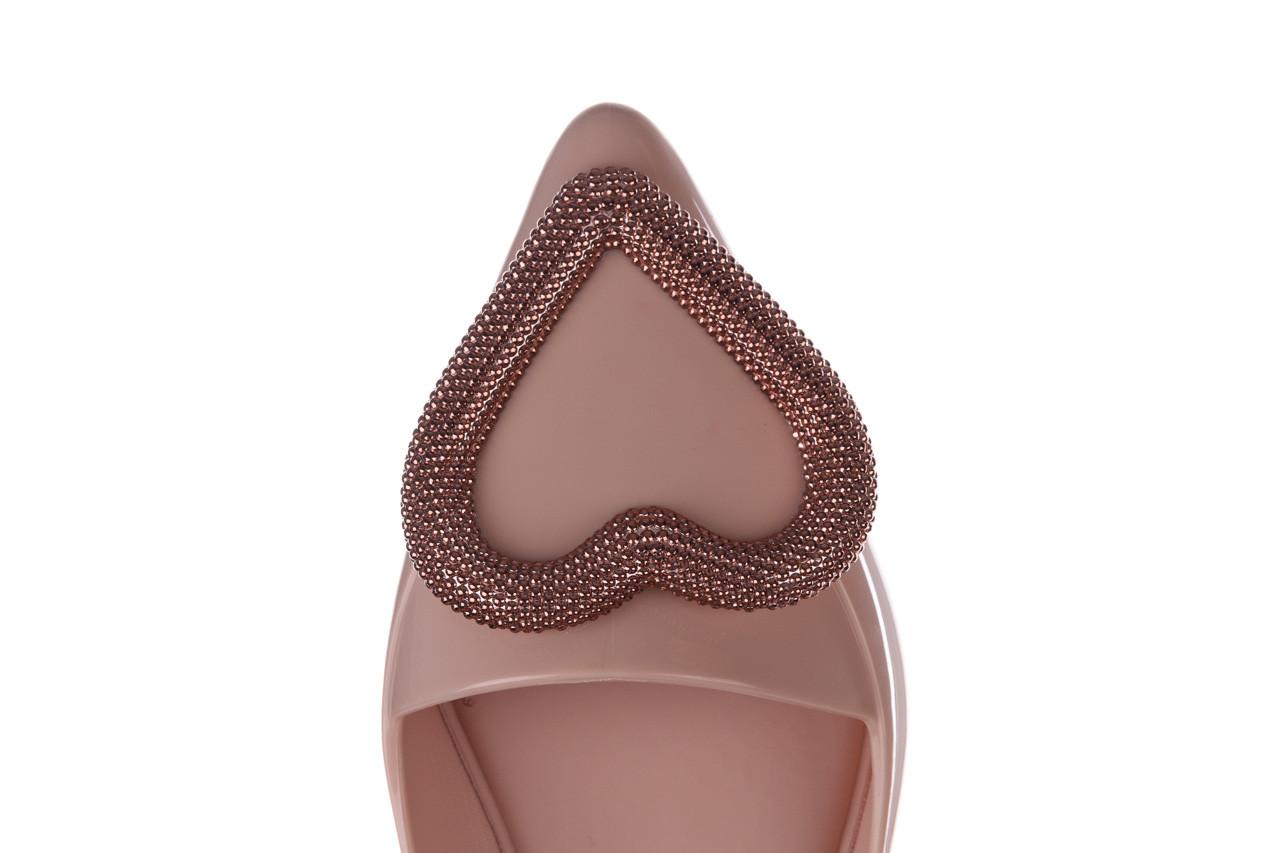 Baleriny melissa pointy heart ad soft pink 010329, róż, guma  - kobieta 14