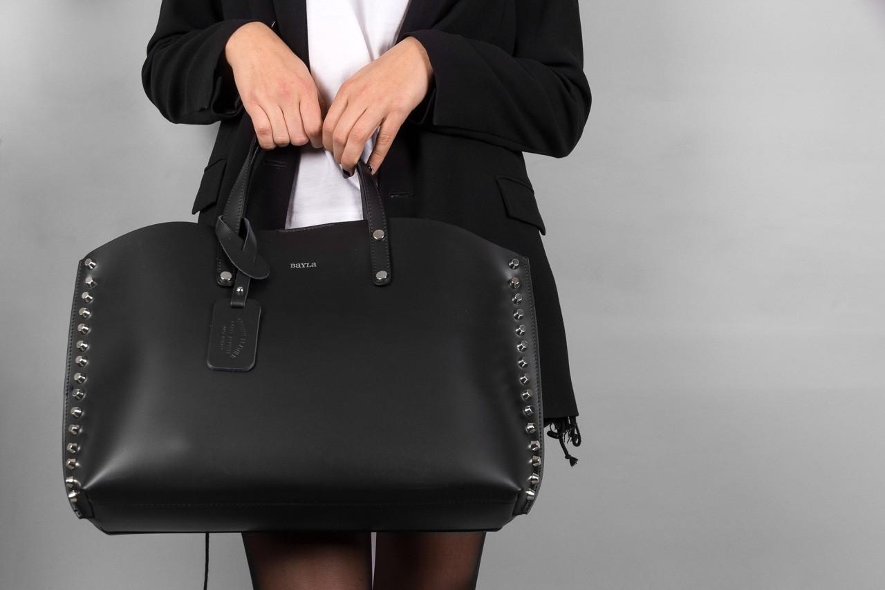 Torebka bayla-180 czarna torebka ze skóry loren - akcesoria - kobieta 10