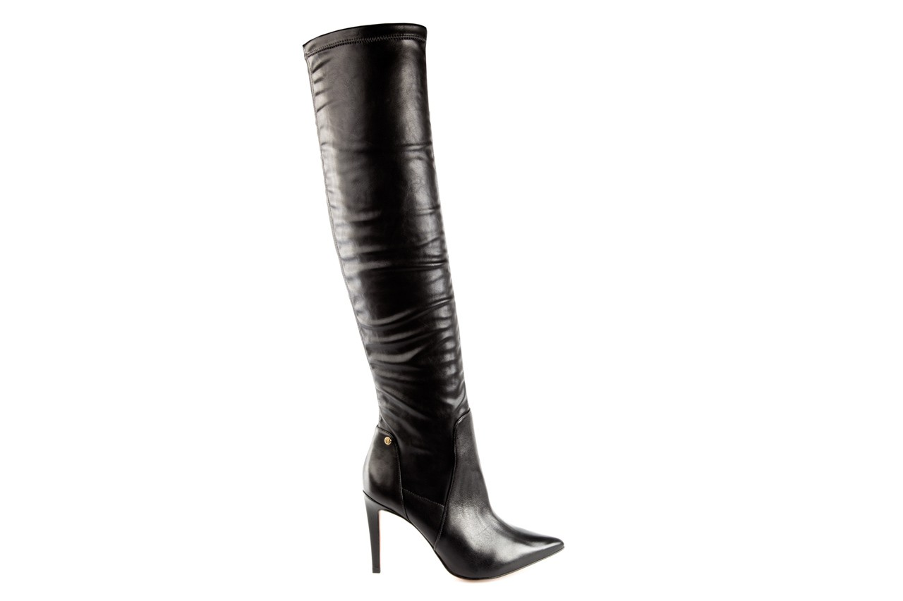 Kozaki bayla-067 118150 veg stre black noir, czarny, skóra naturalna - za kolano / muszkieterki - kozaki - buty damskie - kobieta 6