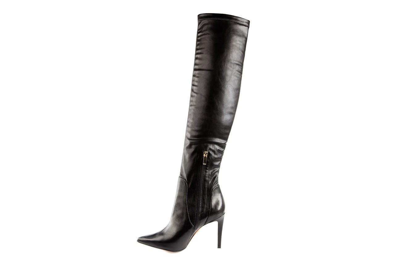 Kozaki bayla-067 118150 veg stre black noir, czarny, skóra naturalna - za kolano / muszkieterki - kozaki - buty damskie - kobieta 8