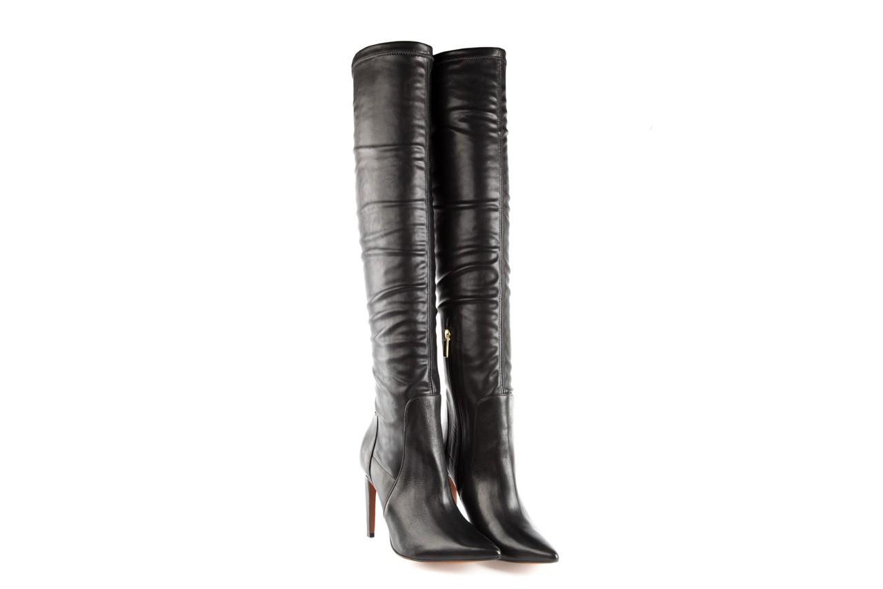 Kozaki bayla-067 118150 veg stre black noir, czarny, skóra naturalna - za kolano / muszkieterki - kozaki - buty damskie - kobieta 7