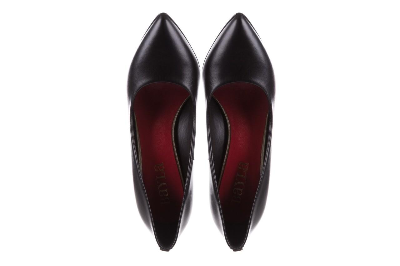 Czółenka bayla-056 1816-08 czarne 20, skóra naturalna  - szpilki - buty damskie - kobieta 10