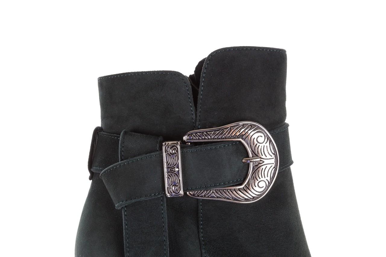 Botki bayla-182 18429 zielone na obcasie, skóra naturalna - worker boots - trendy - kobieta 14