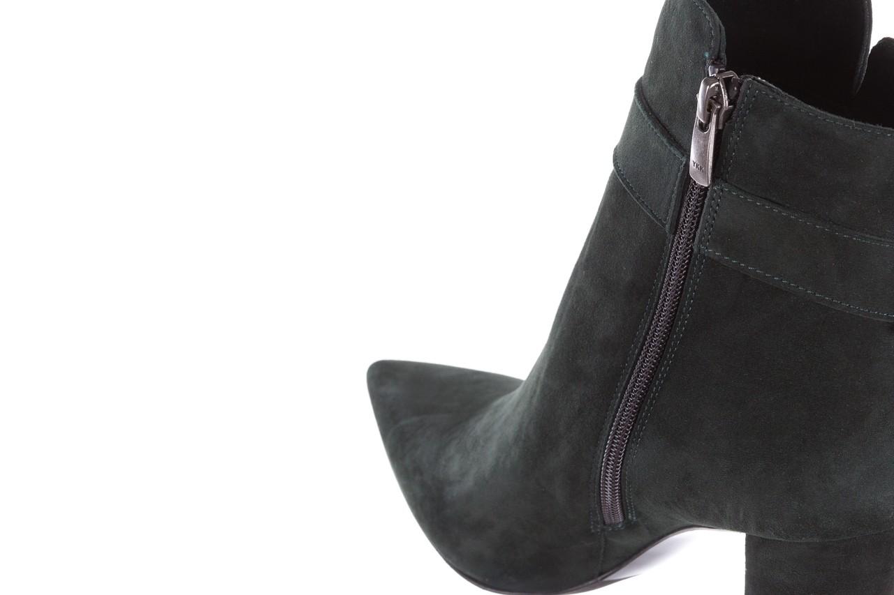 Botki bayla-182 18429 zielone na obcasie, skóra naturalna - worker boots - trendy - kobieta 16