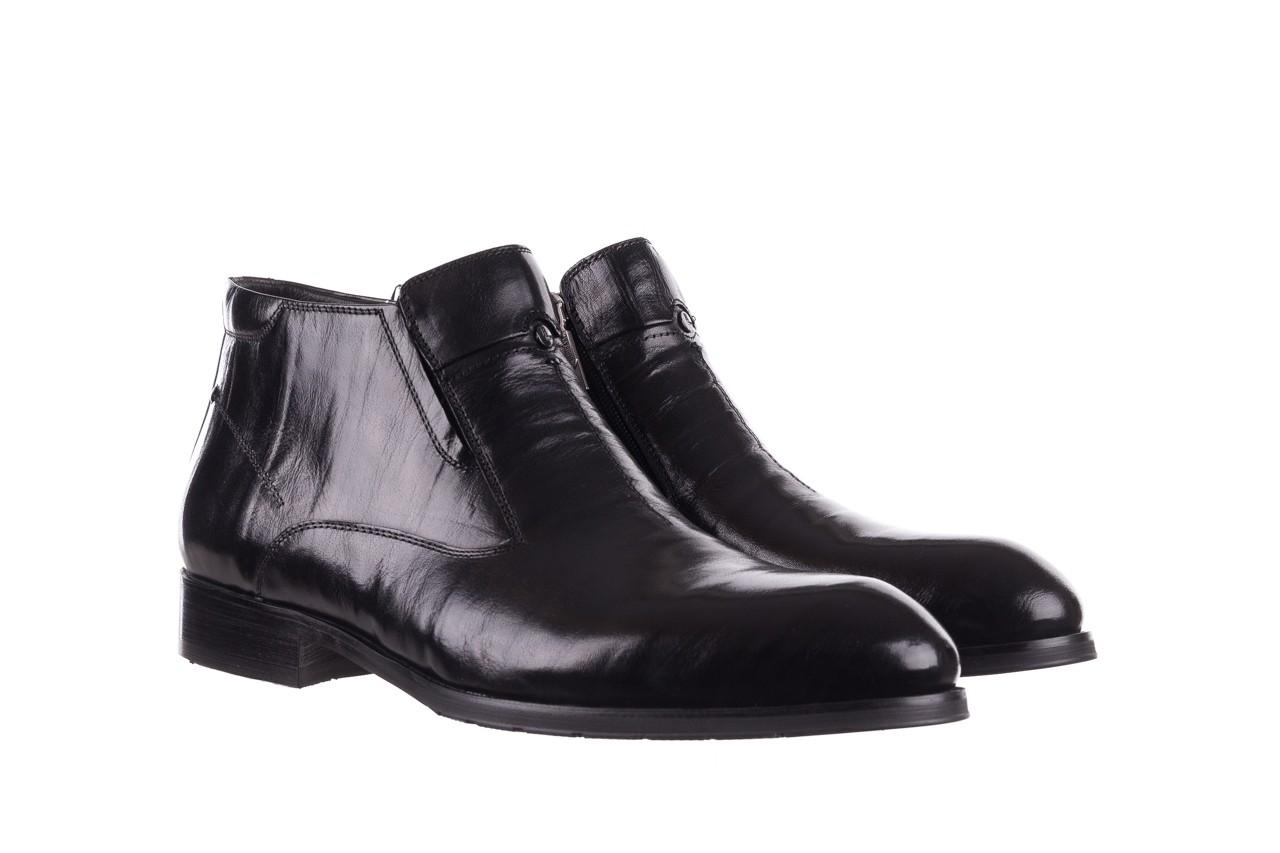 Trzewiki john doubare ygfr-z101-808-1 black, czarne, skóra naturalna - bayla exclusive - trendy - mężczyzna 9