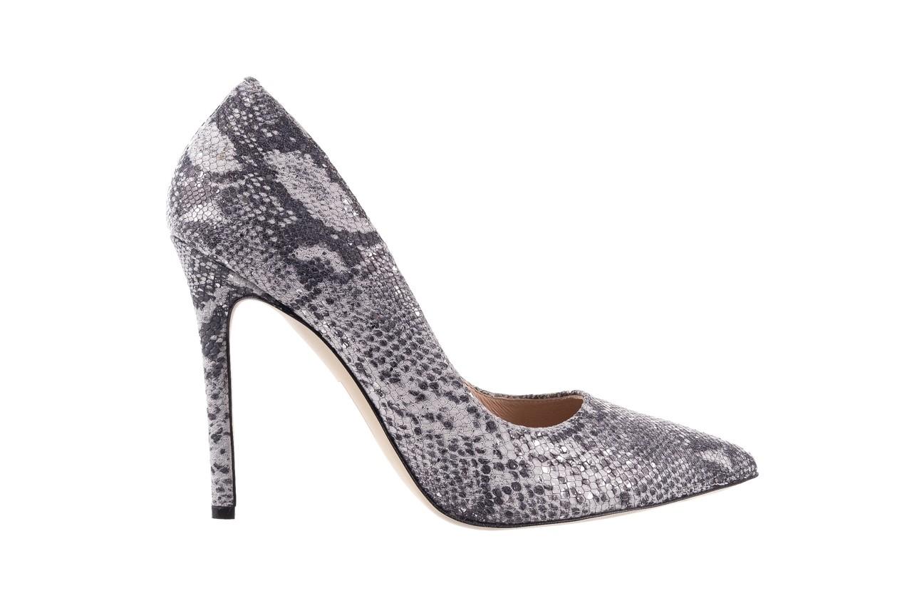 Szpilki bayla-097 14 srebrny wąż, skóra naturalna - do szpica - szpilki - buty damskie - kobieta 6
