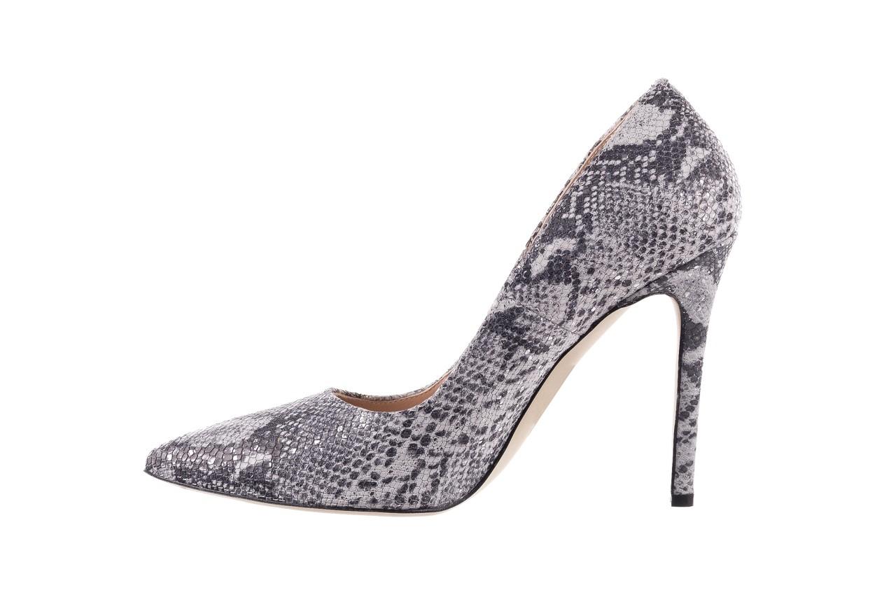 Szpilki bayla-097 14 srebrny wąż, skóra naturalna - do szpica - szpilki - buty damskie - kobieta 8