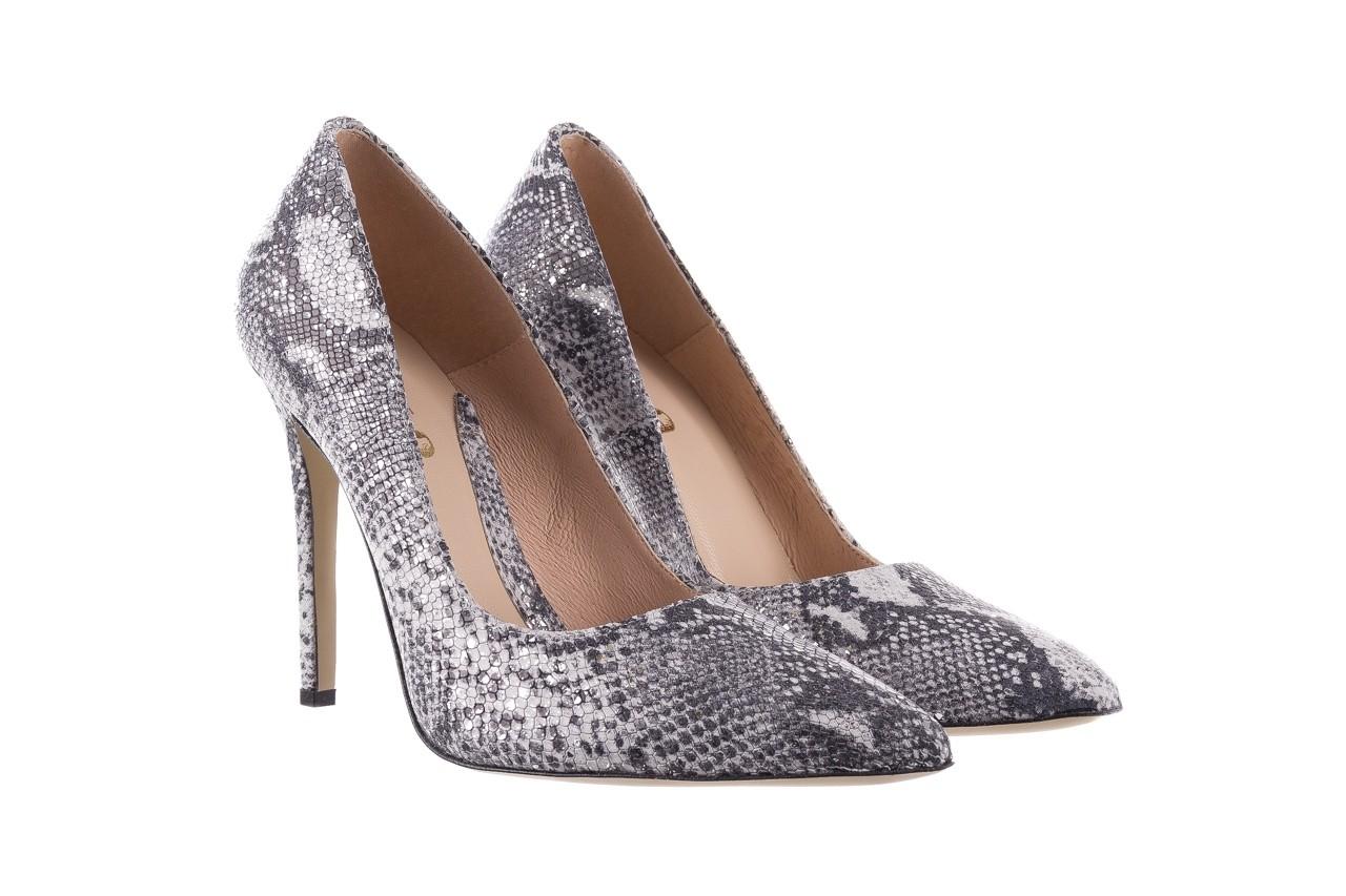 Szpilki bayla-097 14 srebrny wąż, skóra naturalna - do szpica - szpilki - buty damskie - kobieta 7