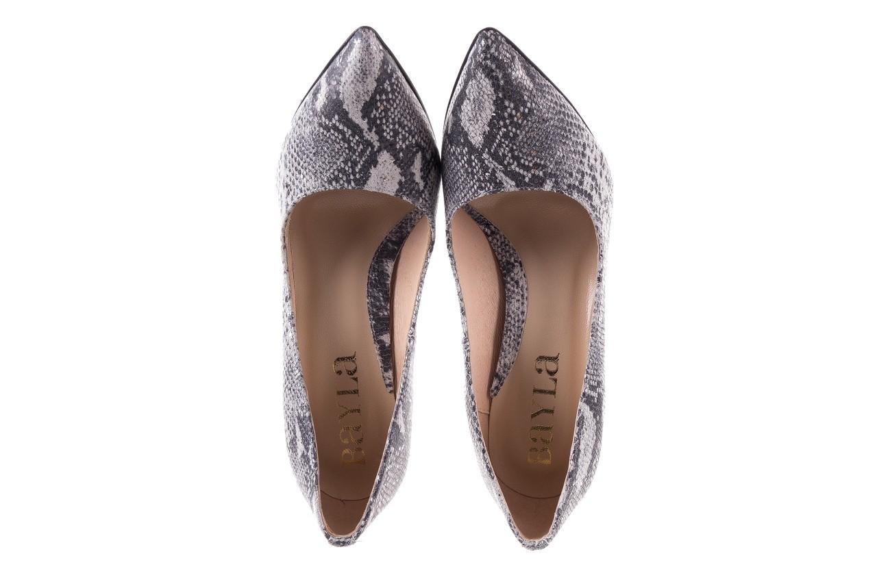 Szpilki bayla-097 14 srebrny wąż, skóra naturalna - do szpica - szpilki - buty damskie - kobieta 10