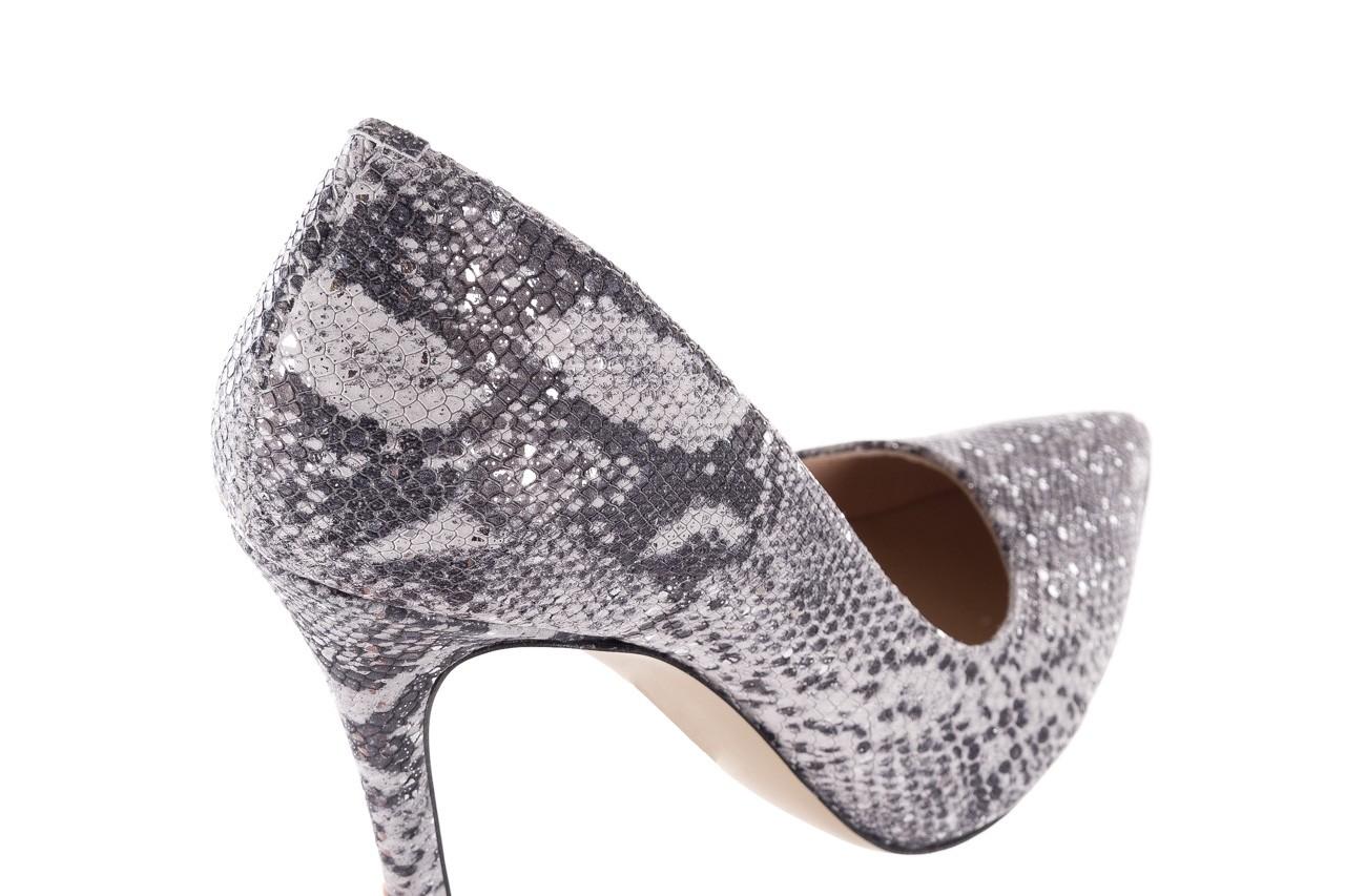 Szpilki bayla-097 14 srebrny wąż, skóra naturalna - do szpica - szpilki - buty damskie - kobieta 11