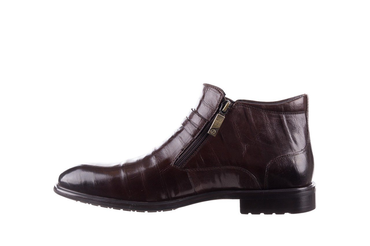 Półbuty john doubare ygfr-z102-310-1 brown, brązowe, skóra naturalna - sale - buty męskie - mężczyzna 10