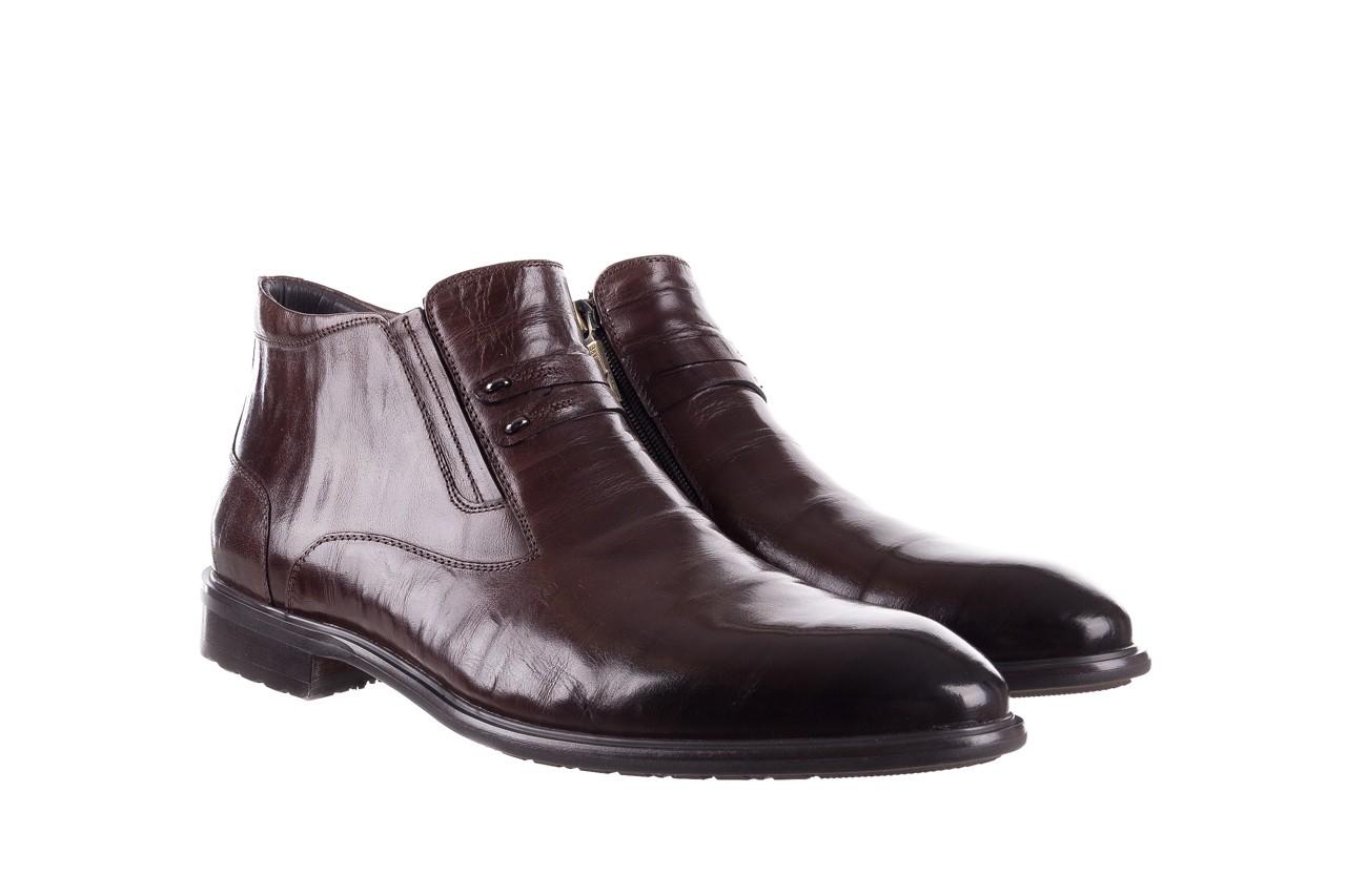 Półbuty john doubare ygfr-z102-310-1 brown, brązowe, skóra naturalna - sale - buty męskie - mężczyzna 9