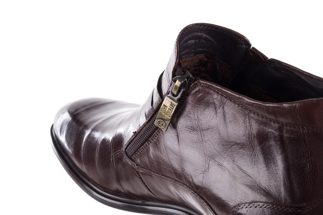 Półbuty john doubare ygfr-z102-310-1 brown, brązowe, skóra naturalna - bayla exclusive - trendy - mężczyzna 15