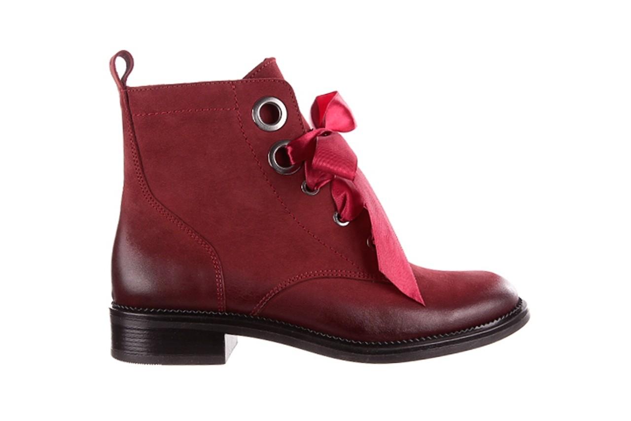 Trzewiki bayla-100 1002 bordowe ze wstążką, skóra naturalna - trzewiki - buty damskie - kobieta 9