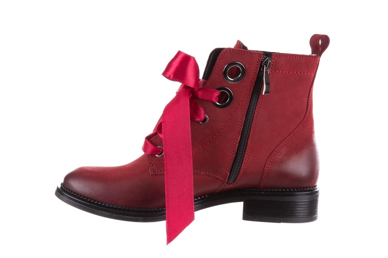 Trzewiki bayla-100 1002 bordowe ze wstążką, skóra naturalna - trzewiki - buty damskie - kobieta 11