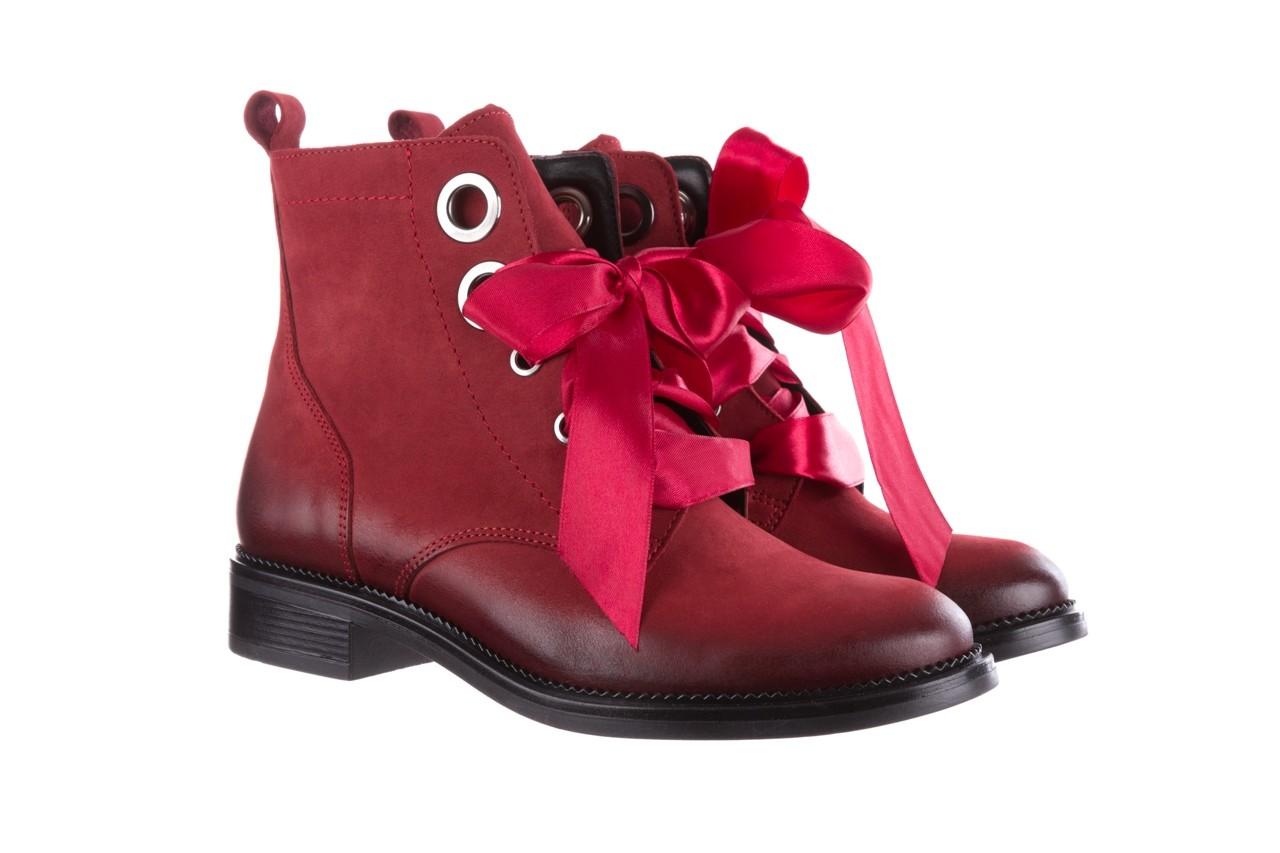 Trzewiki bayla-100 1002 bordowe ze wstążką, skóra naturalna - trzewiki - buty damskie - kobieta 10