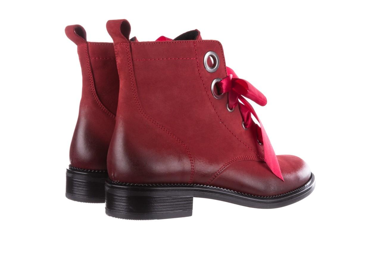 Trzewiki bayla-100 1002 bordowe ze wstążką, skóra naturalna - trzewiki - buty damskie - kobieta 12