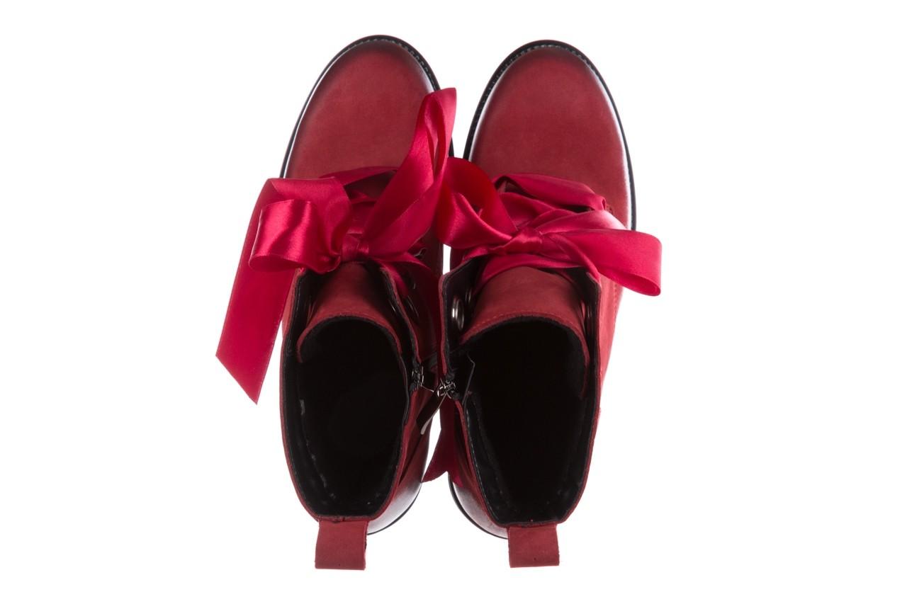 Trzewiki bayla-100 1002 bordowe ze wstążką, skóra naturalna - trzewiki - buty damskie - kobieta 13
