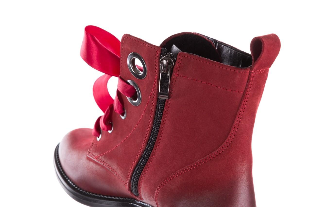 Trzewiki bayla-100 1002 bordowe ze wstążką, skóra naturalna - trzewiki - buty damskie - kobieta 17