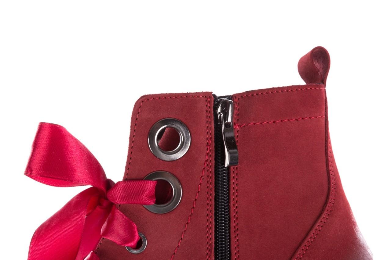 Trzewiki bayla-100 1002 bordowe ze wstążką, skóra naturalna - trzewiki - buty damskie - kobieta 15