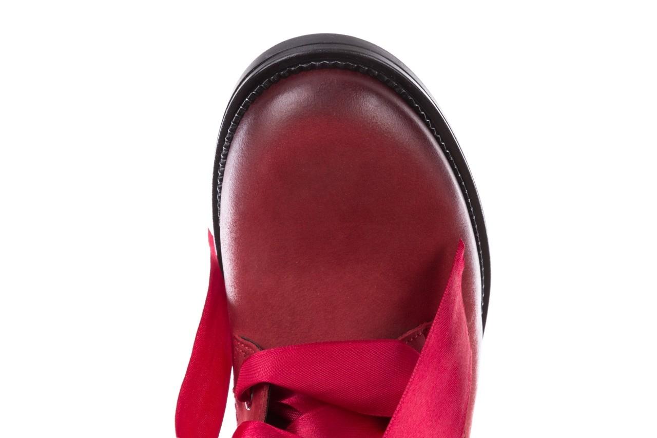 Trzewiki bayla-100 1002 bordowe ze wstążką, skóra naturalna - trzewiki - buty damskie - kobieta 14