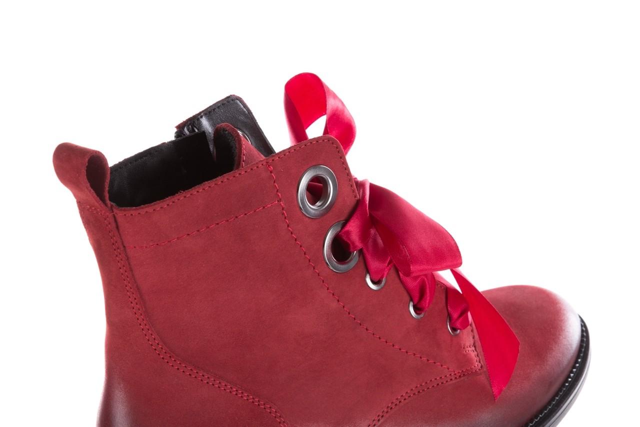 Trzewiki bayla-100 1002 bordowe ze wstążką, skóra naturalna - trzewiki - buty damskie - kobieta 16