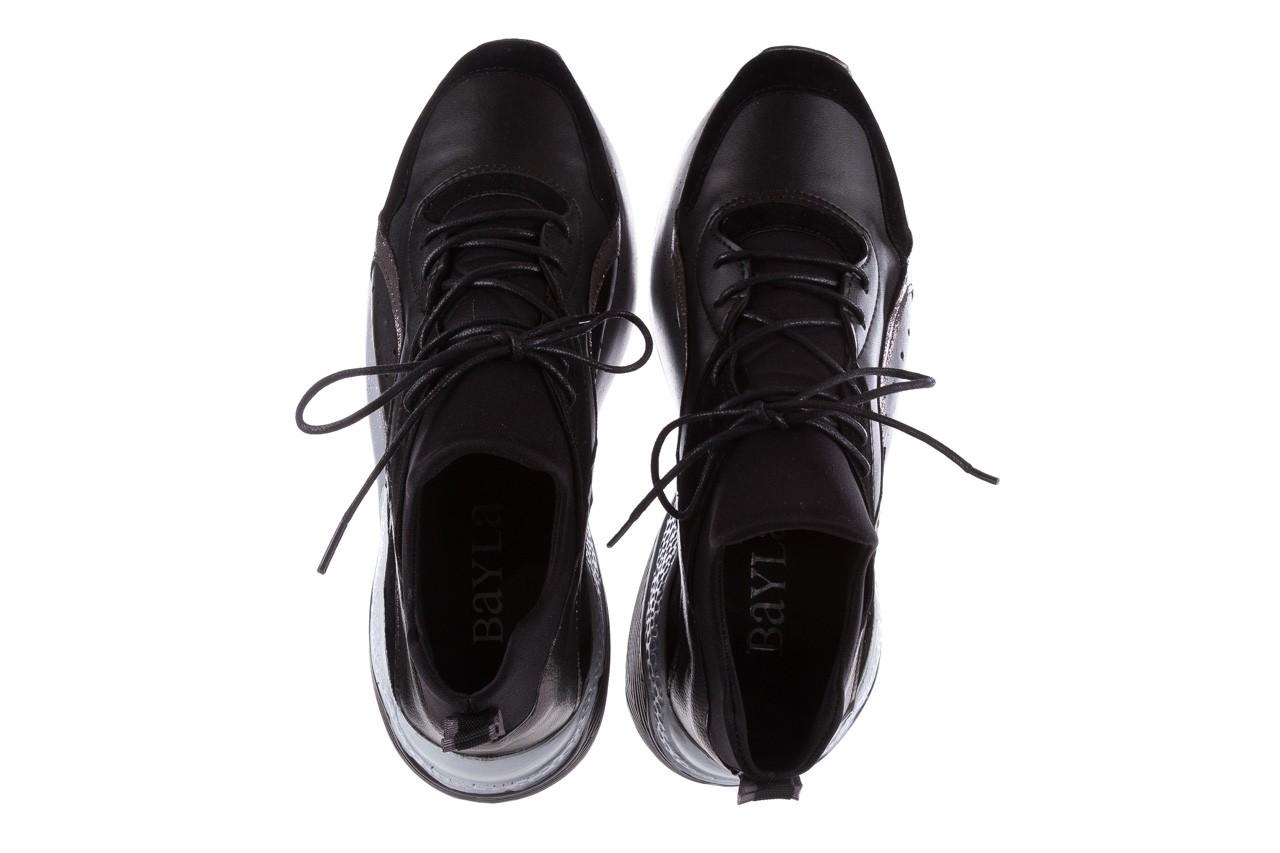 Sneakersy bayla-155 385-2758 czarne, skóra ekologiczna - bayla - nasze marki 12