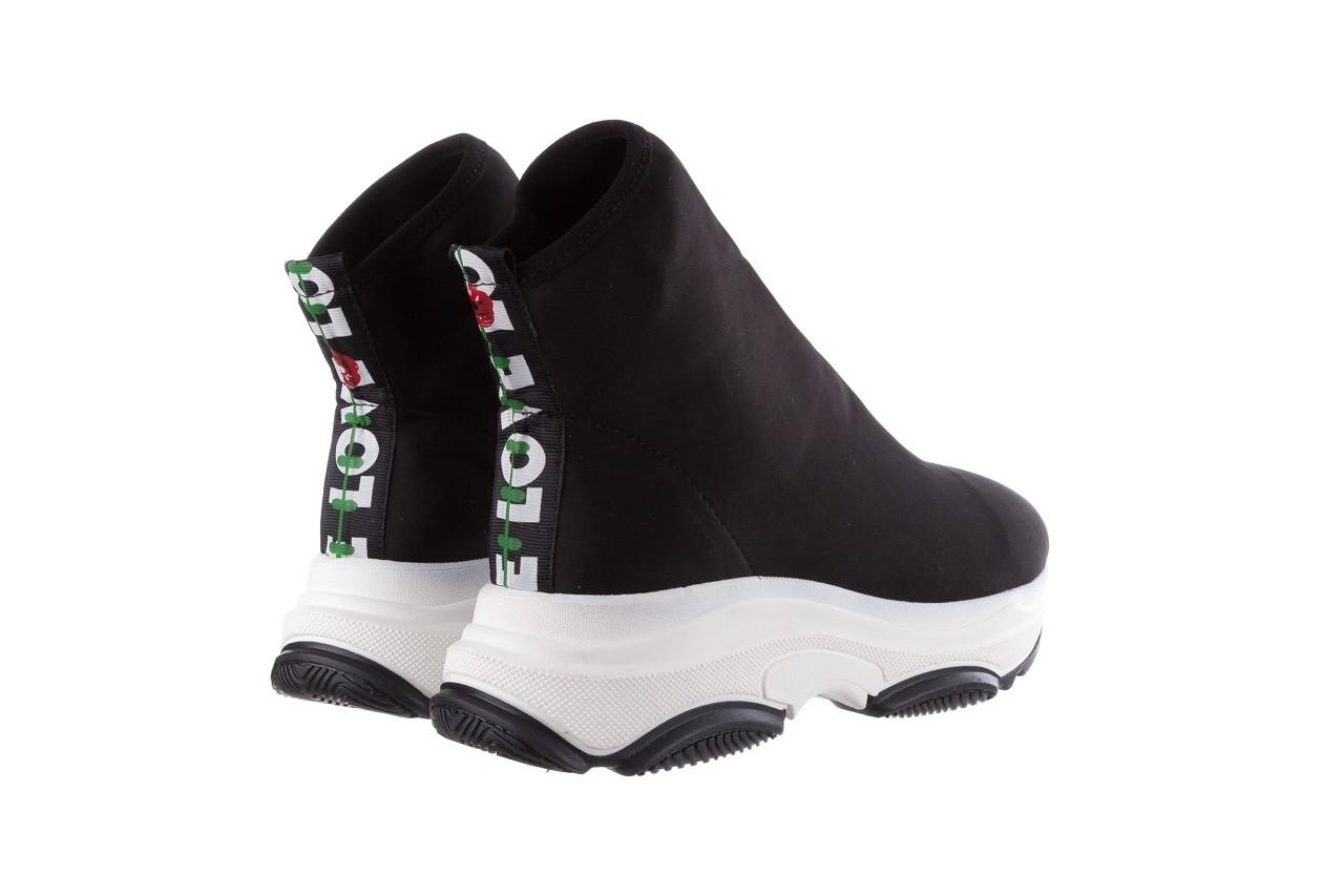 Sneakersy bayla-155 001-002 czarne sneakersy 19, czarny, materiał - sneakersy - buty damskie - kobieta 11