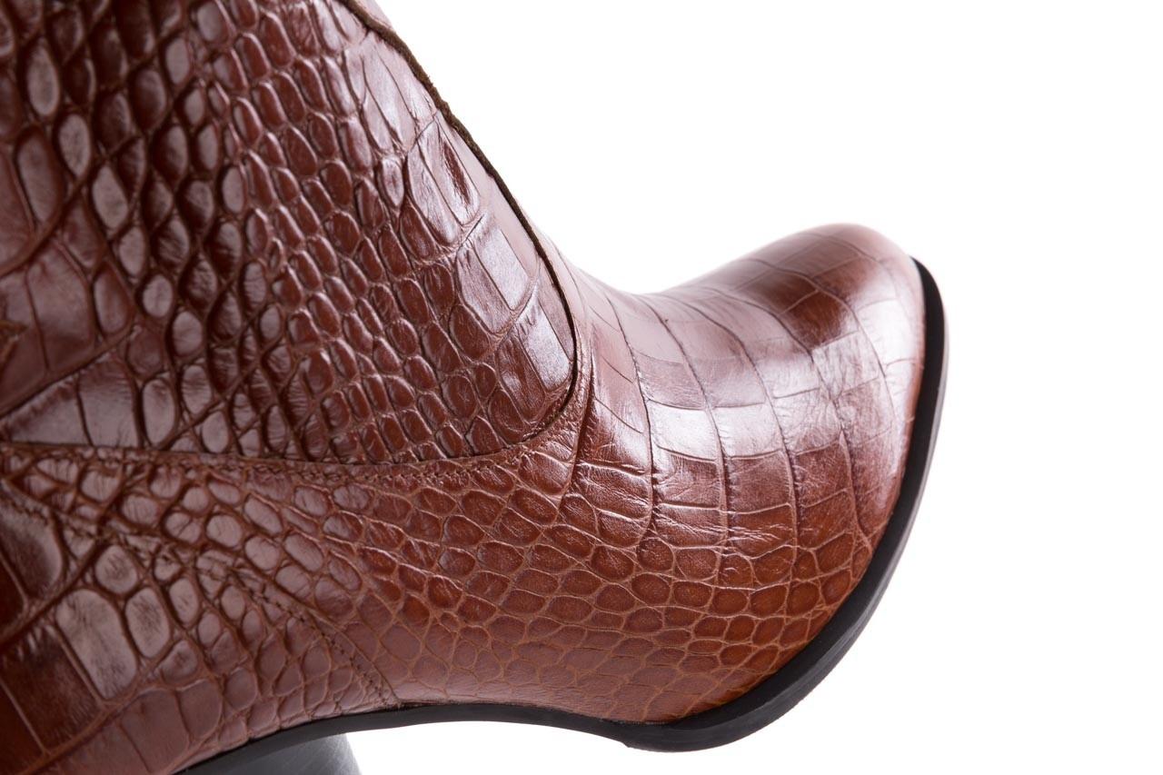 Botki bayla-097 33 kowbojki rudy krokodyl, skóra naturalna - bayla - nasze marki 13