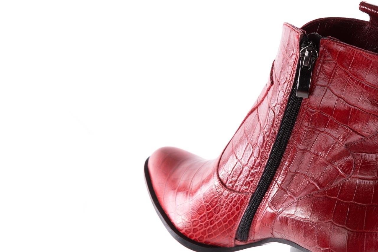Botki bayla-097 33 kowbojki czerwony krokodyl, skóra naturalna 15