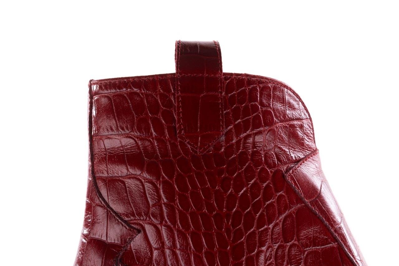 Botki bayla-097 33 kowbojki czerwony krokodyl, skóra naturalna 14