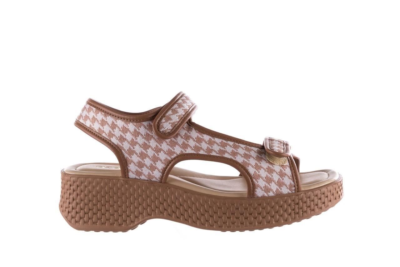 Sandały azaleia 321 295 amber plaid, brąz/ biały, materiał - azaleia - nasze marki 7