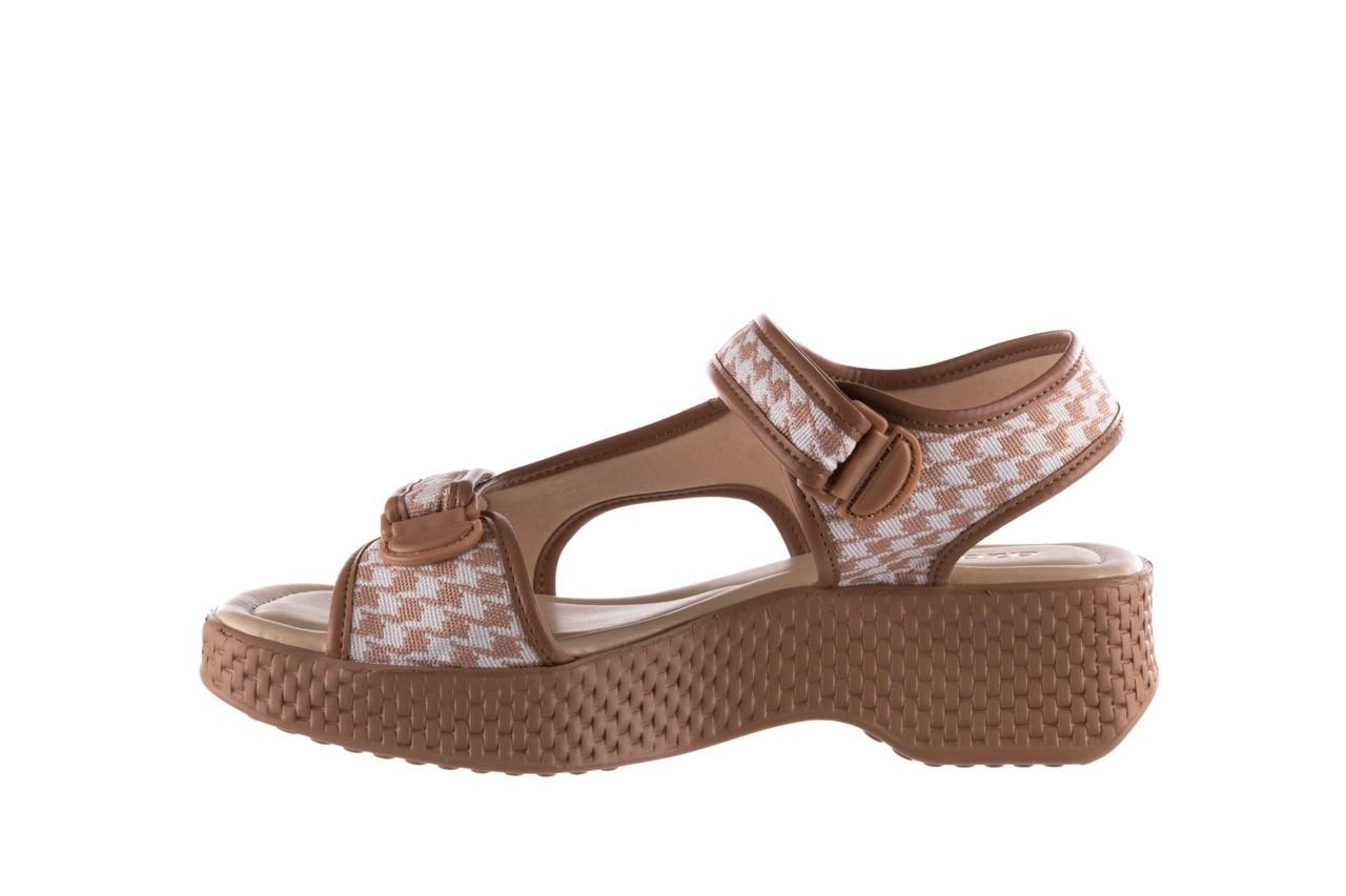 Sandały azaleia 321 295 amber plaid, brąz/ biały, materiał - azaleia - nasze marki 9