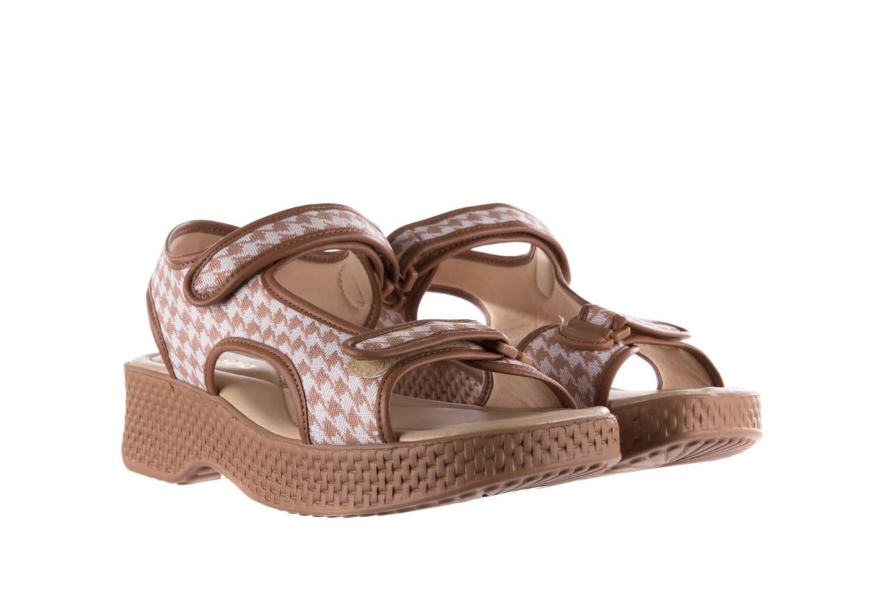 Sandały azaleia 321 295 amber plaid, brąz/ biały, materiał - azaleia - nasze marki 8
