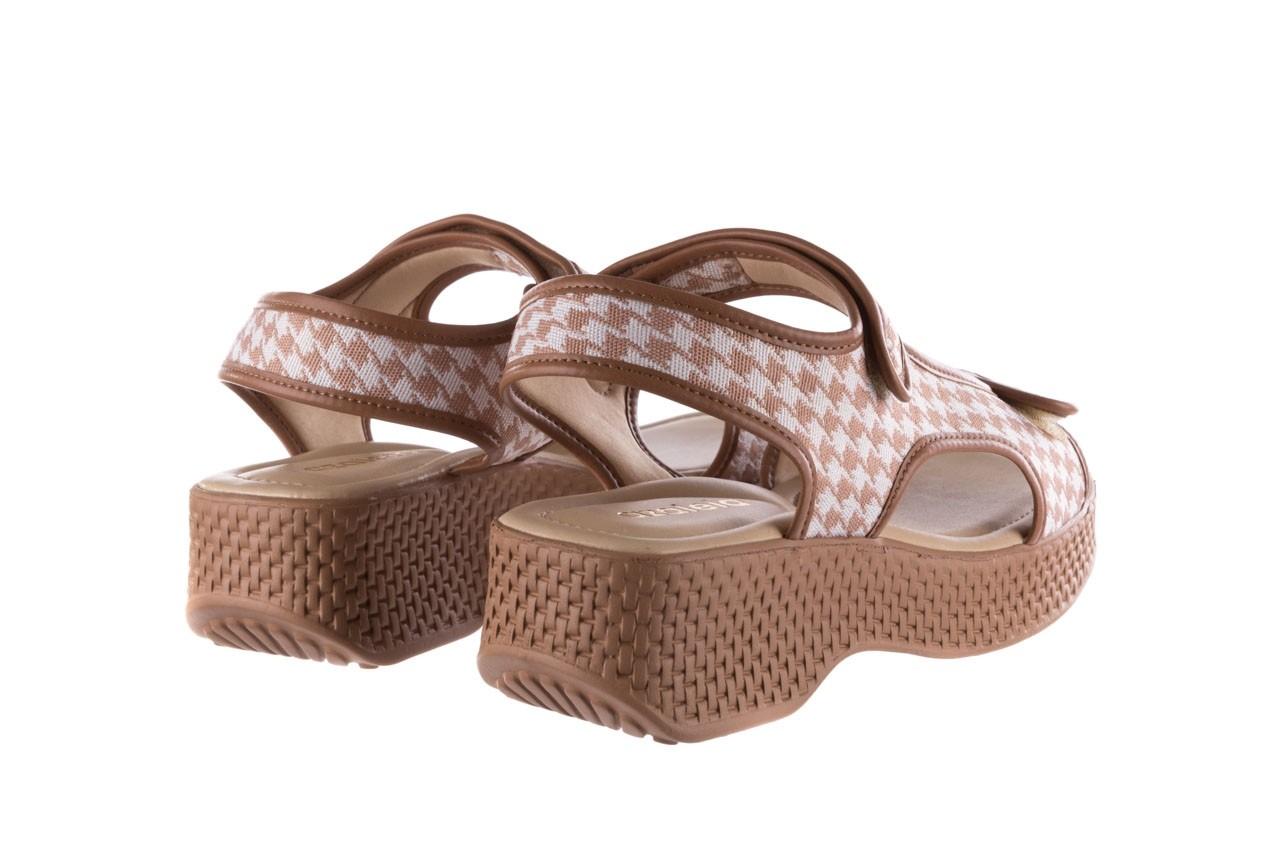 Sandały azaleia 321 295 amber plaid, brąz/ biały, materiał - azaleia - nasze marki 10