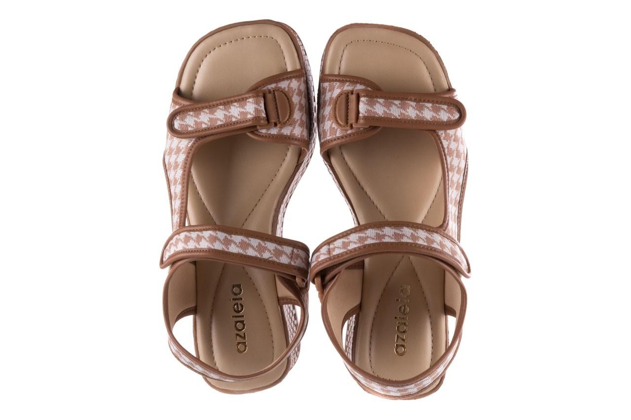 Sandały azaleia 321 295 amber plaid, brąz/ biały, materiał - azaleia - nasze marki 11