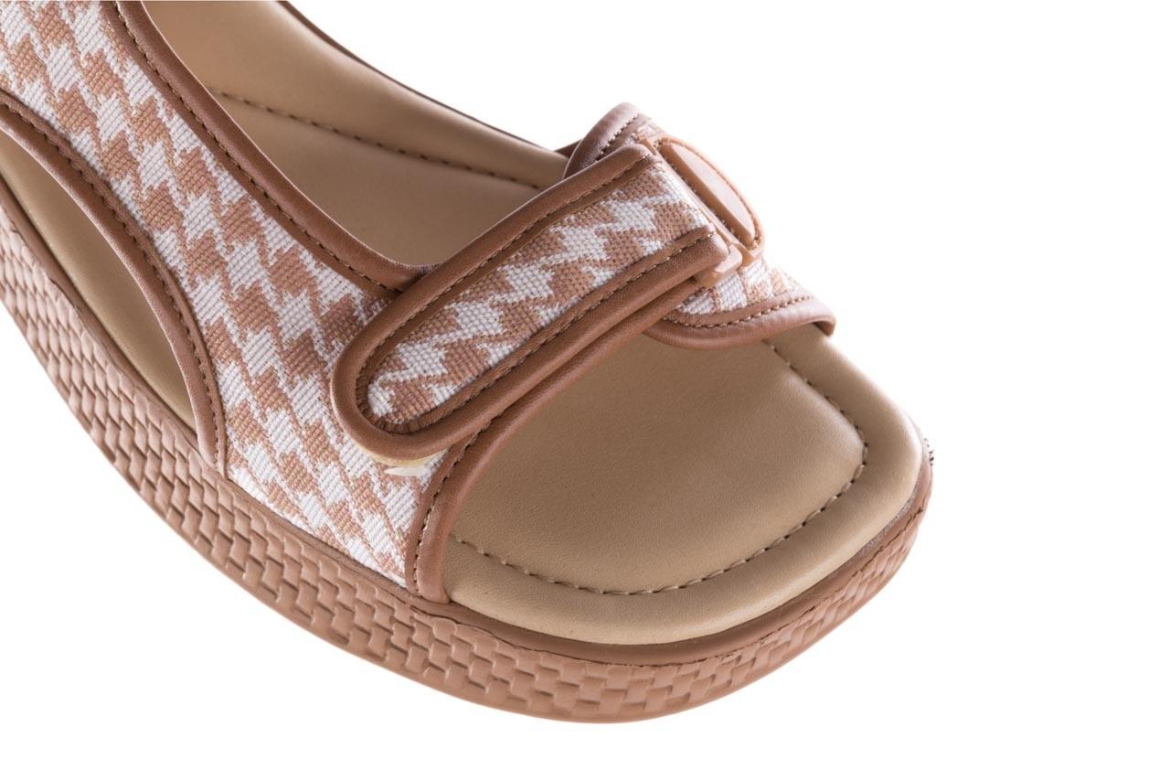 Sandały azaleia 321 295 amber plaid, brąz/ biały, materiał - azaleia - nasze marki 12