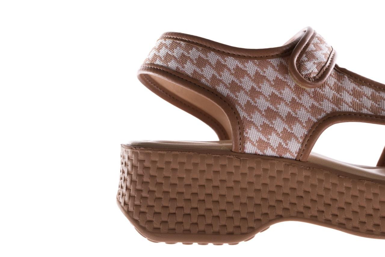Sandały azaleia 321 295 amber plaid, brąz/ biały, materiał - azaleia - nasze marki 13
