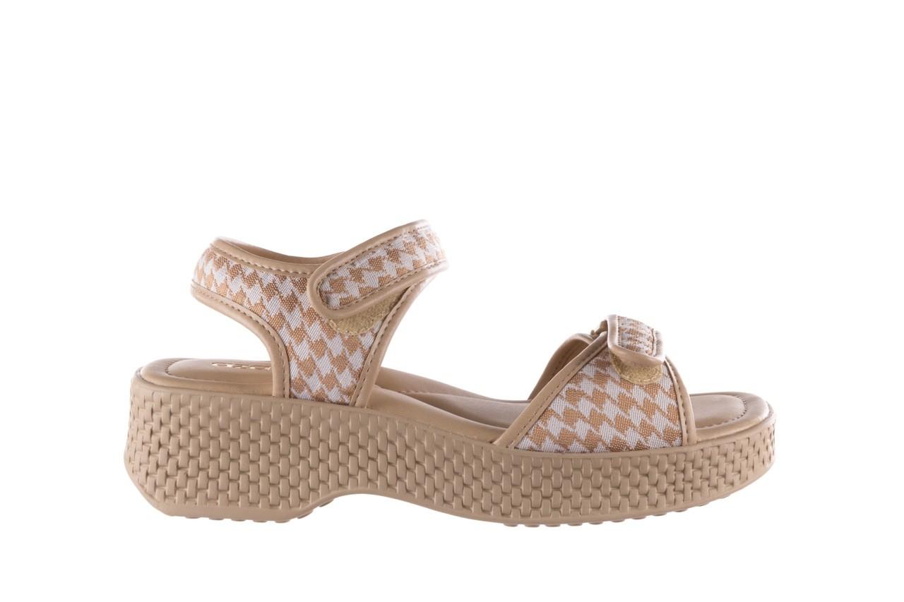 Sandały azaleia 321 293 beige plaid, beż/ biały, materiał - azaleia - nasze marki 7