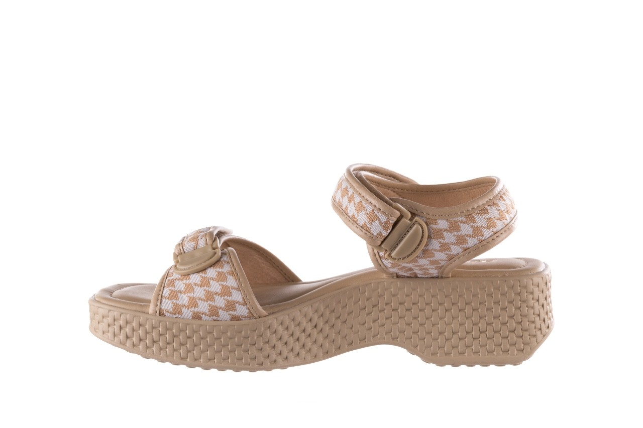 Sandały azaleia 321 293 beige plaid, beż/ biały, materiał - azaleia - nasze marki 9